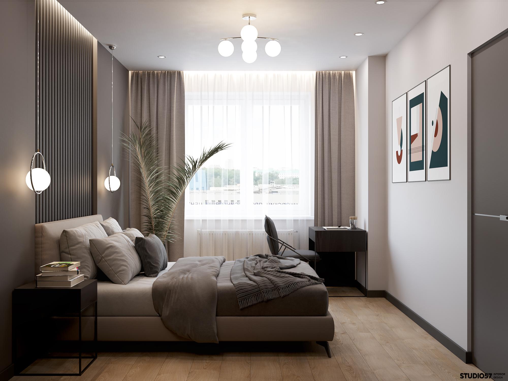 Дизайн спальни. Вид 1.