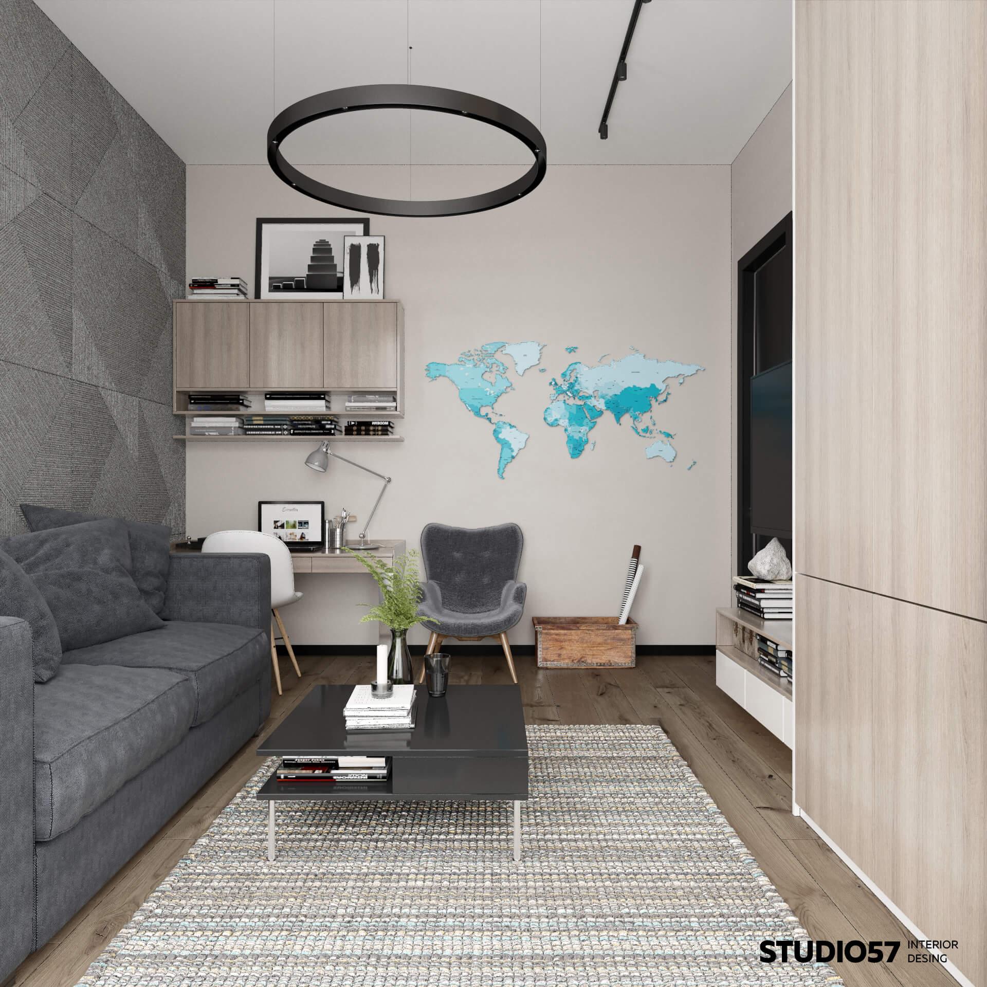 Современный интерьер комнаты для подростка