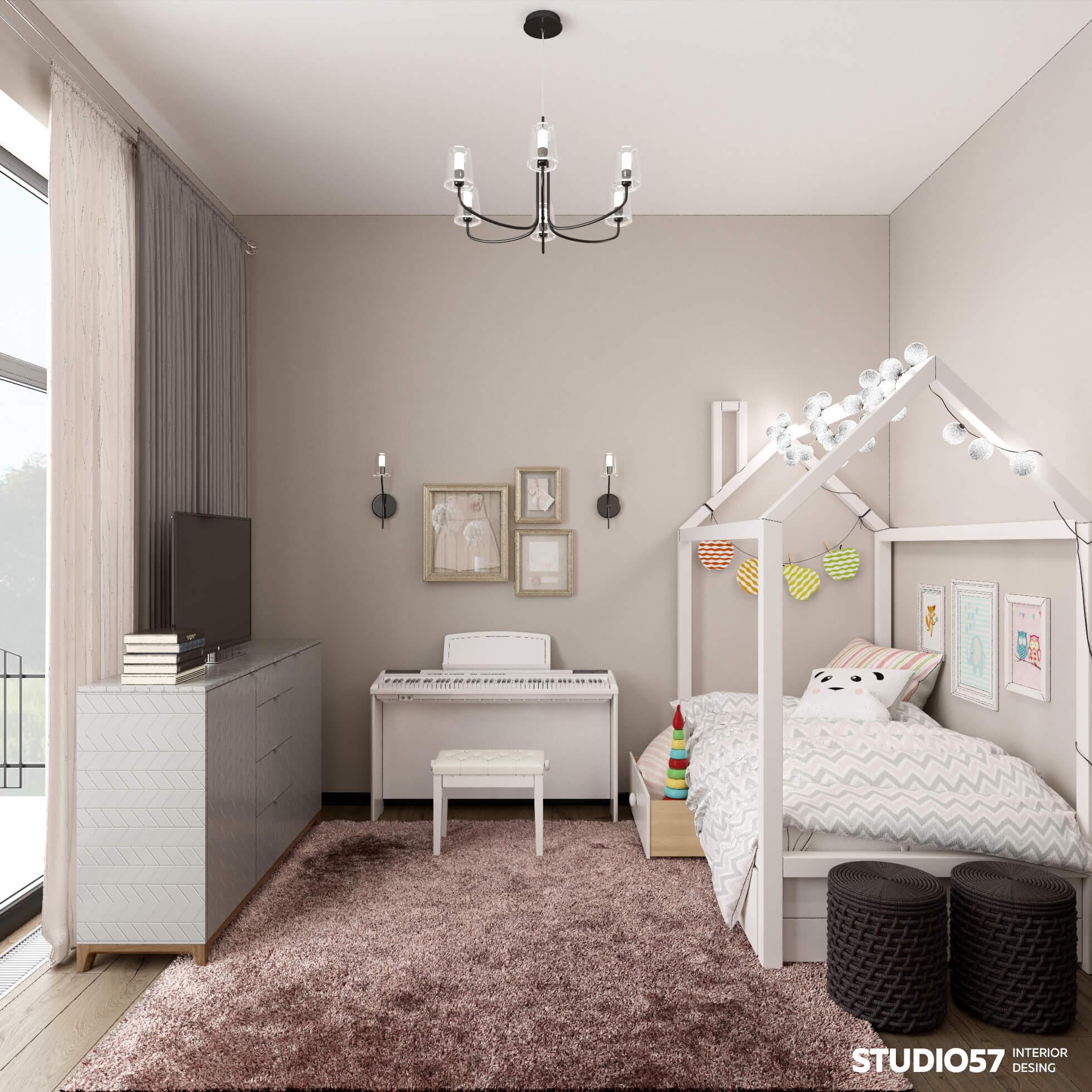 Фотография светлой детской комнаты