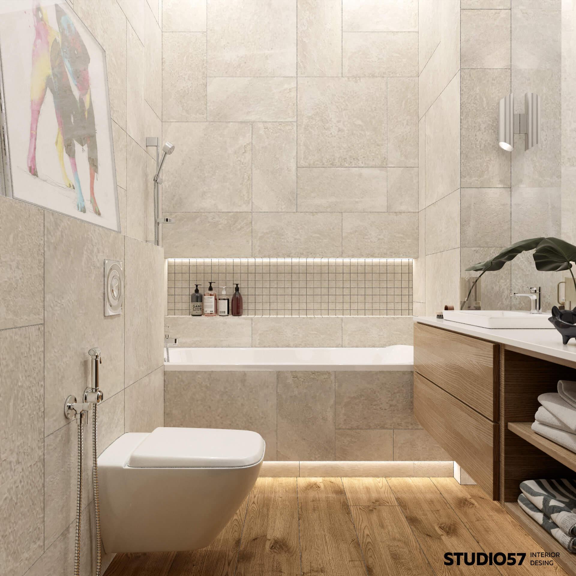 Ванная комната светлая