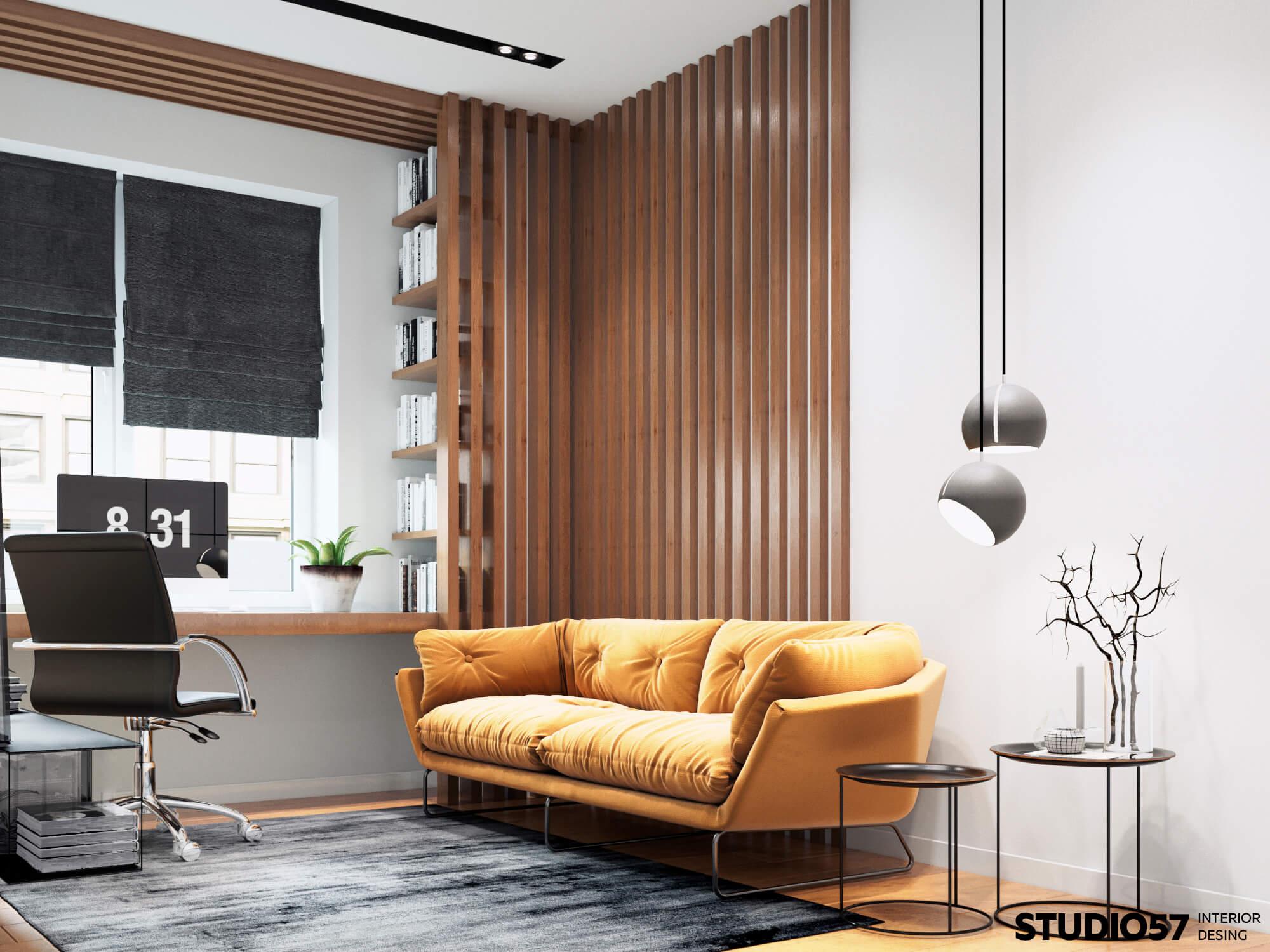 Дизайн кабинета. Вид 1.