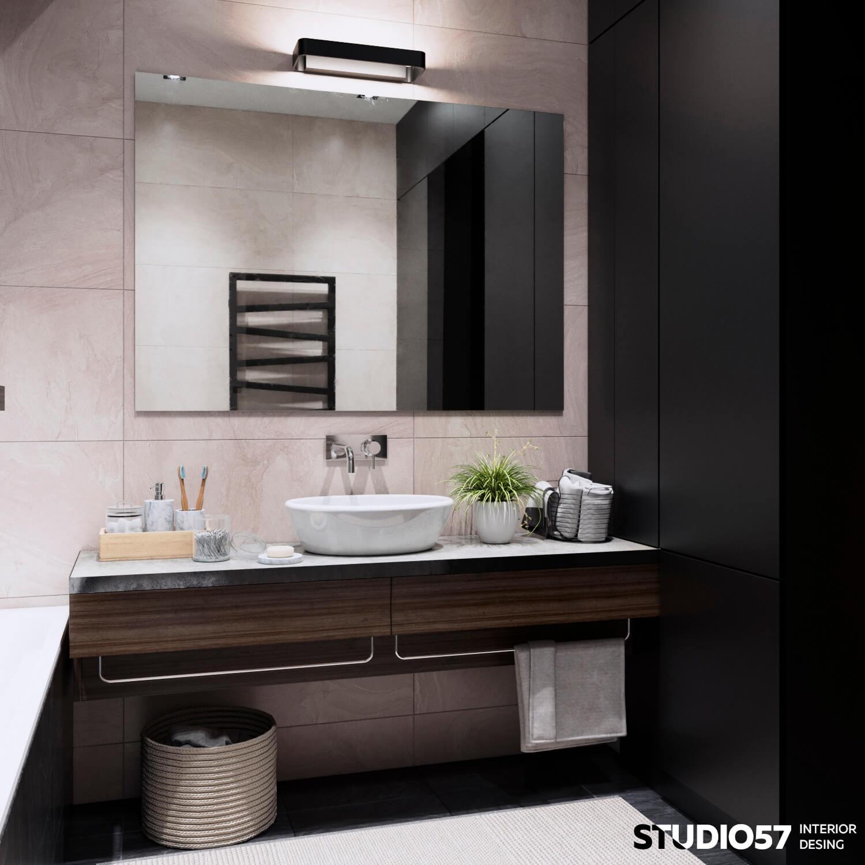 Дизайн ванной и санузла. Вид 1.