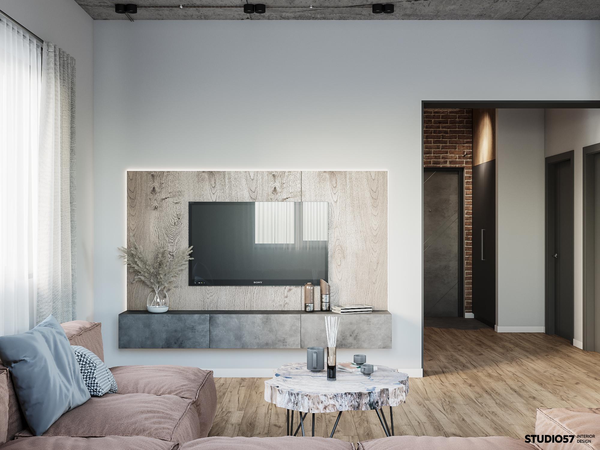 Дизайн гостиной. Вид 2.
