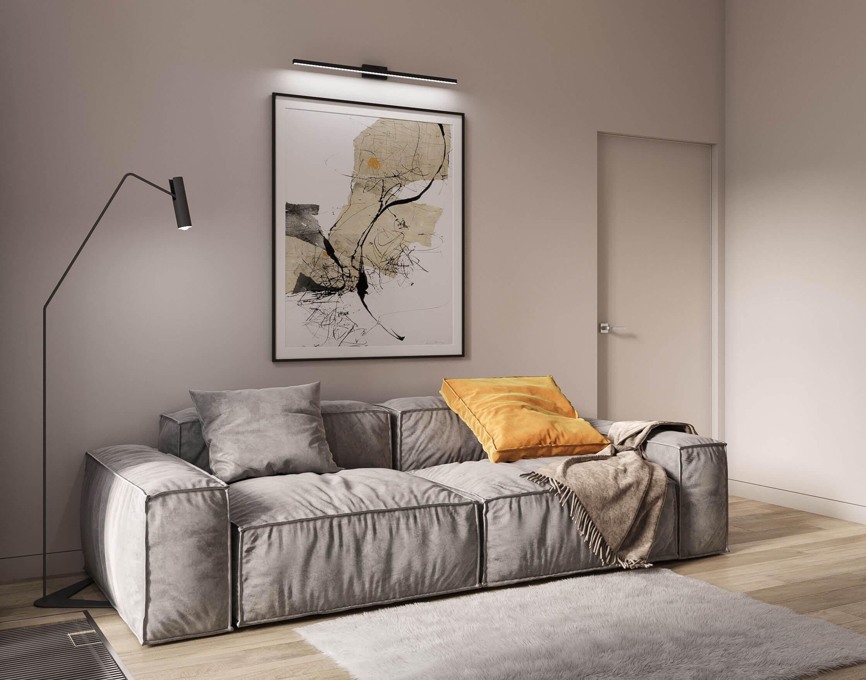 Дизайн гостевой спальни. Диван. Вид 2.