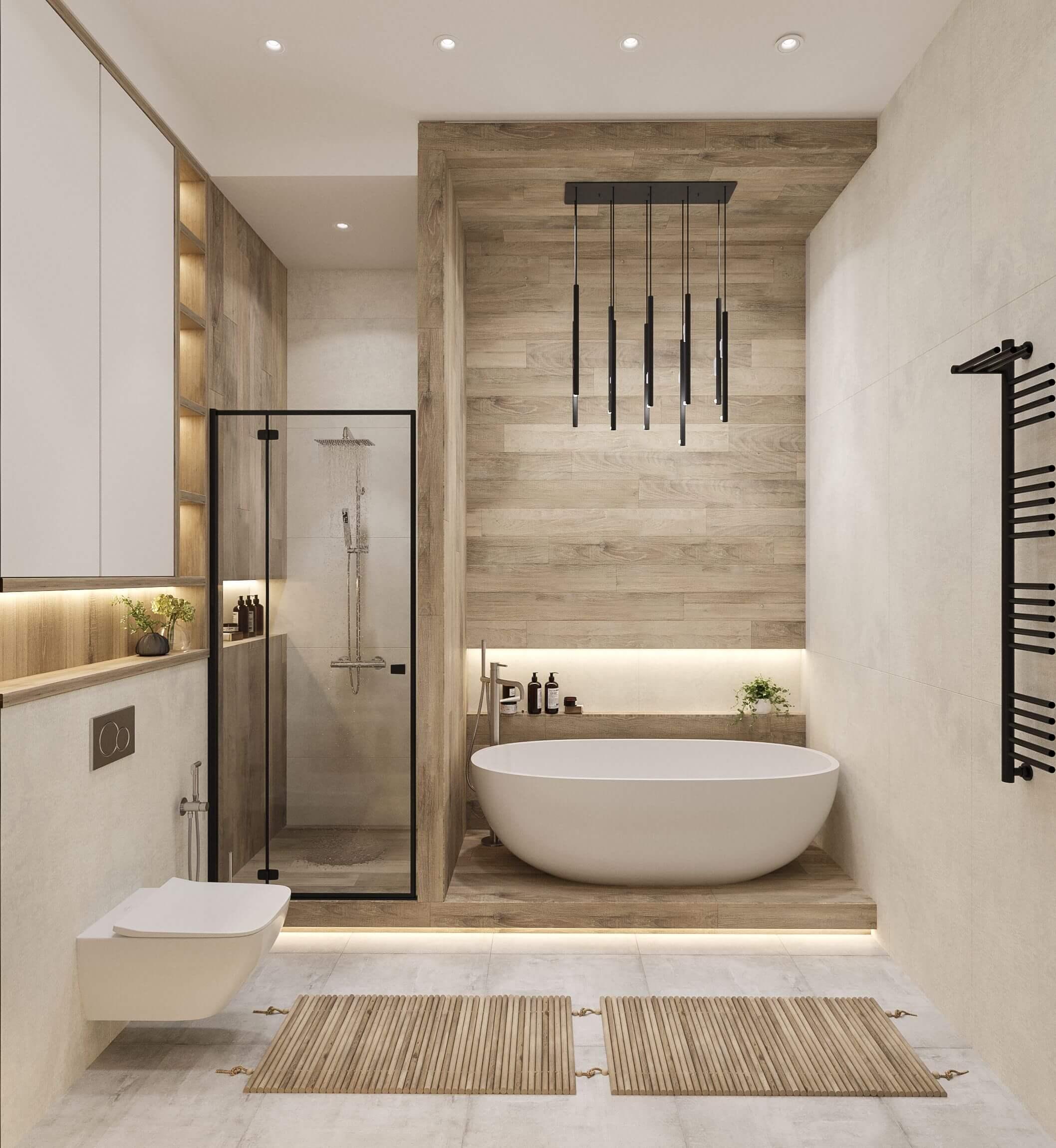 Дизайн ванной. Вид 1.