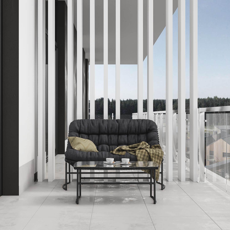 Дизайн балкона. Вид 1.