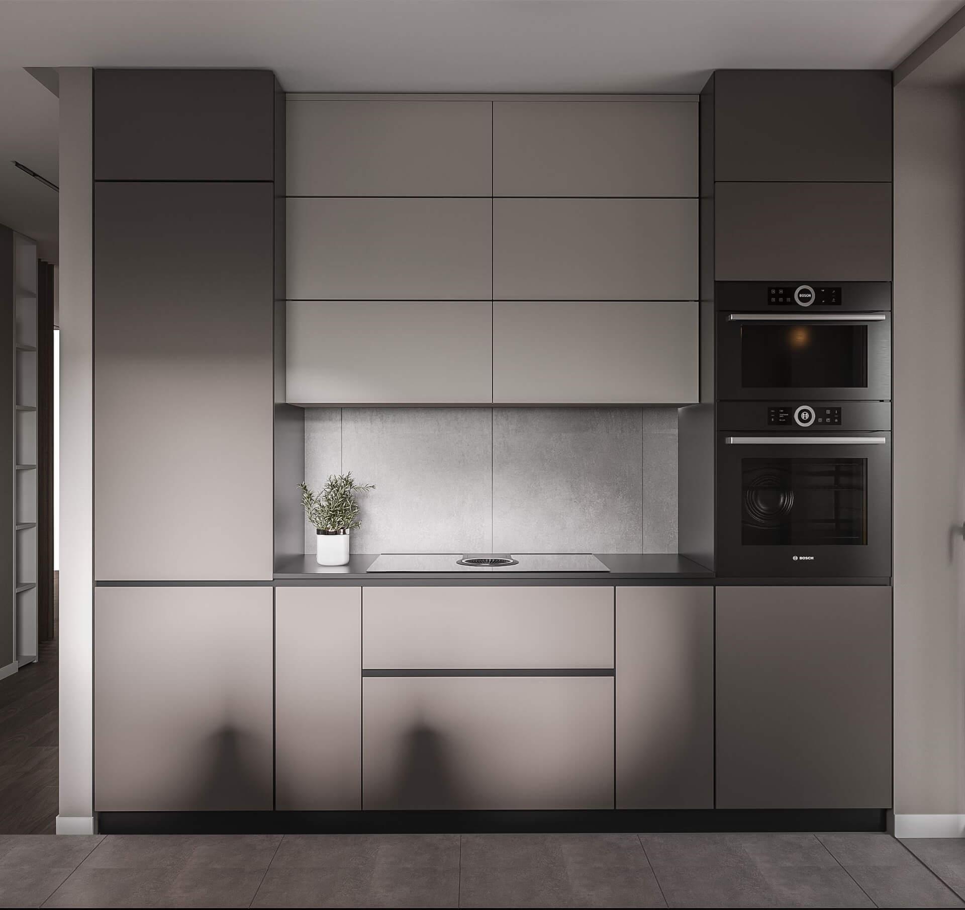 Дизайн кухни-гостиной. Интерьер кухни. Вид 2.