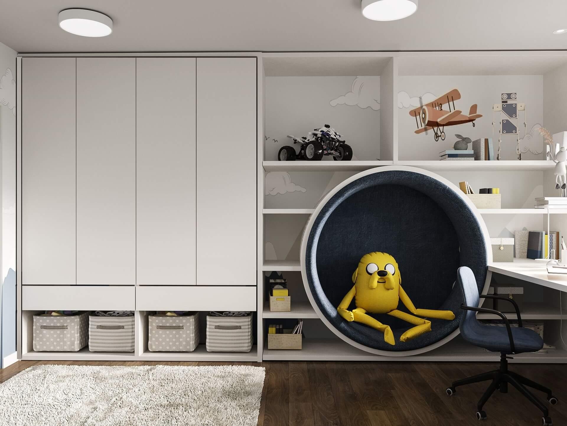 Дизайн детской комнаты. Система хранения.