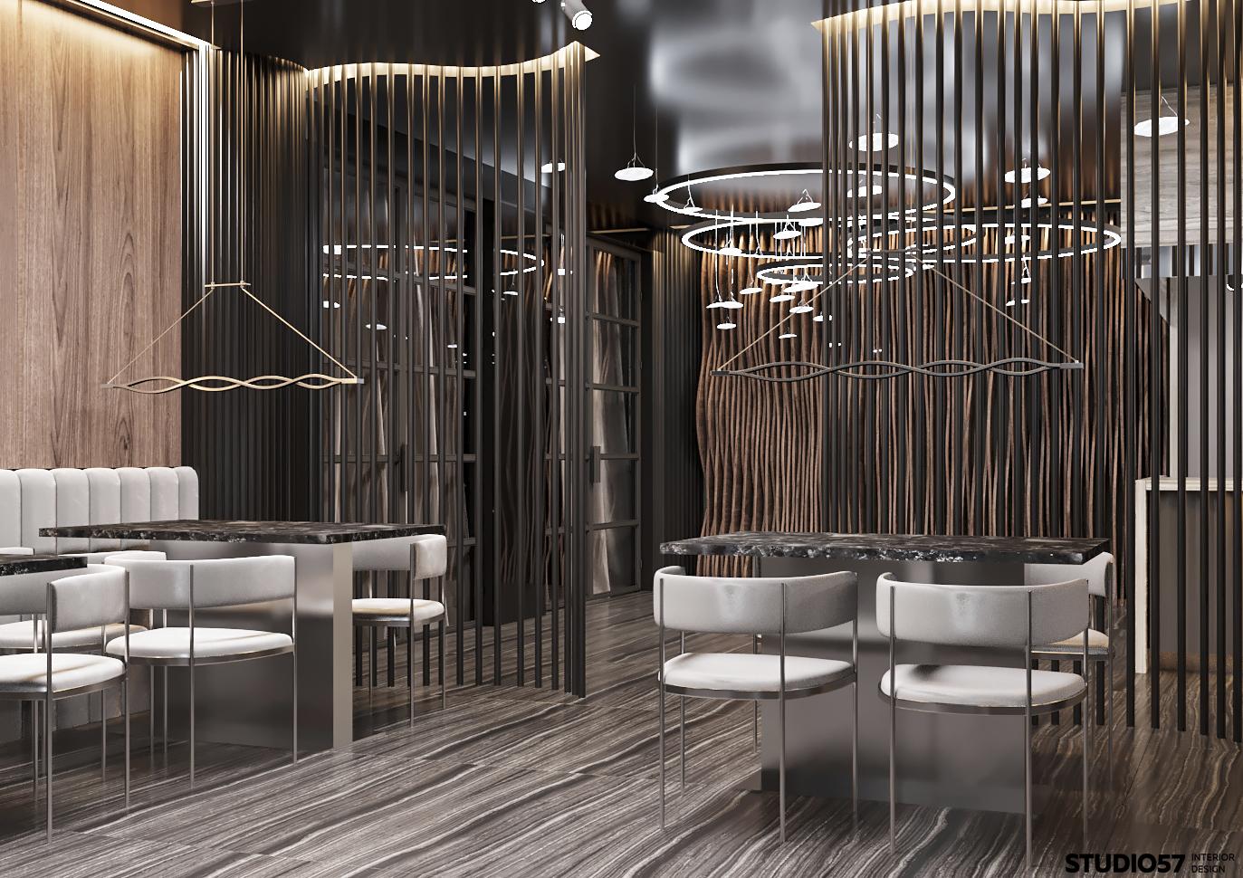Шикарный интерьер ресторана