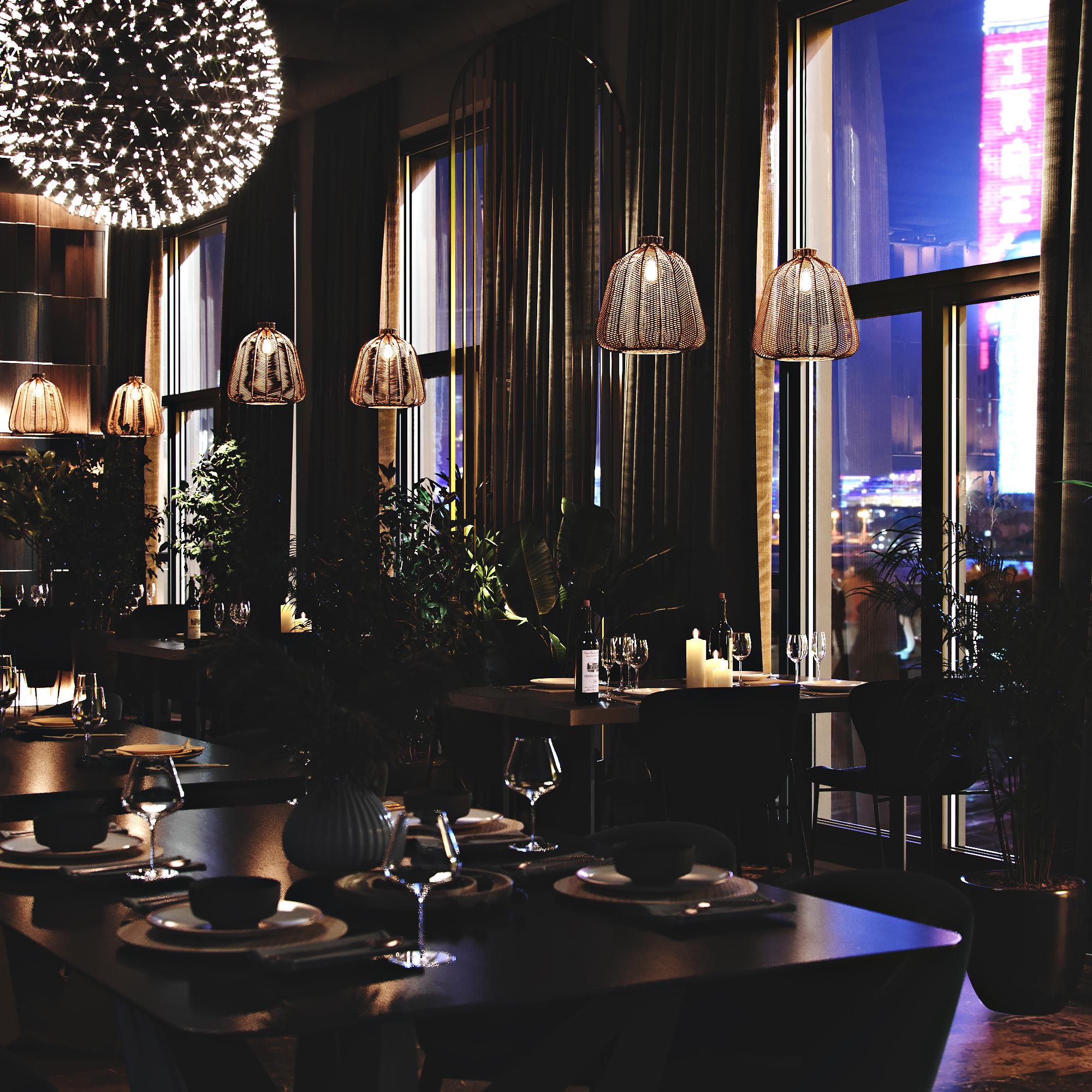Интерьер ресторана. Вид 1.