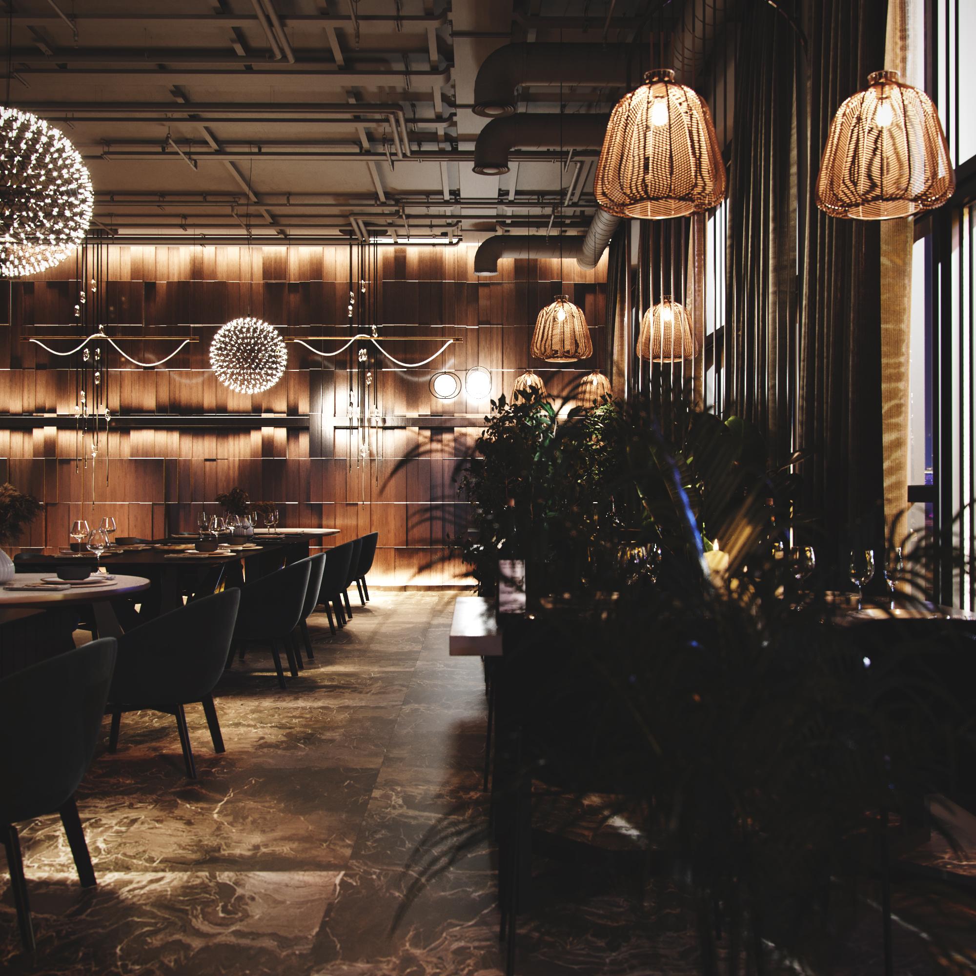 Интерьер ресторана. Вид 3.