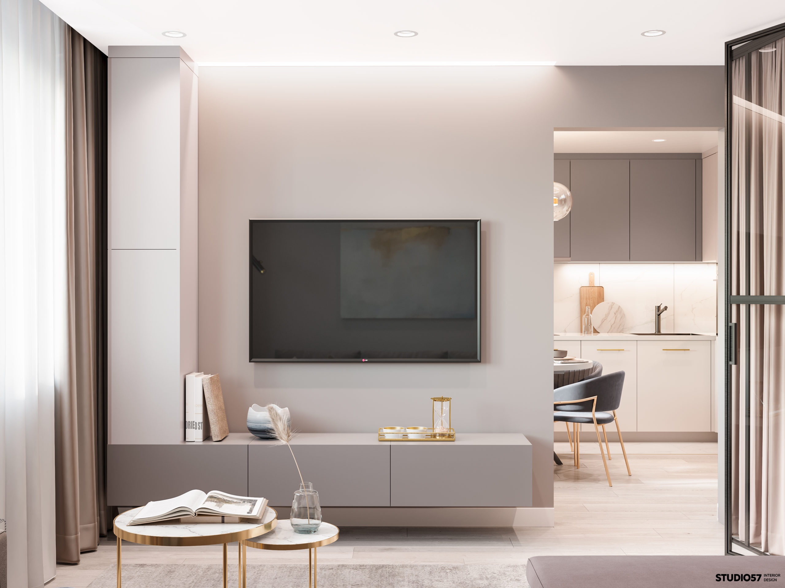 Дизайн гостиной. Зона ТВ.
